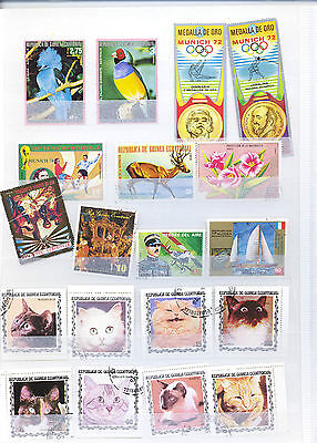 EQUATORIAL GUINEA  SMALL COLLECTION OF STAMPS 13 Lg