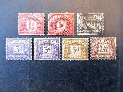 Great Britain, Postage Due Selection
