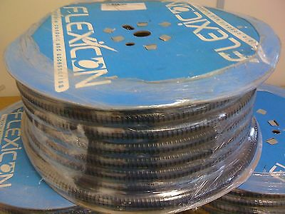 10 metre roll of FSU25mm Black Flexicon flexible Conduit plus 4 25mm glands