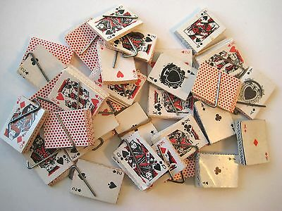 VINTAGE Miniature Paper PLAYING CARD DECKS Gumball Prizes LOT of 30