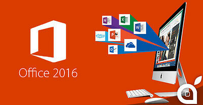 Microsoft Office 2016 Home & Business - Apple Mac - Updatable! Many Languages!