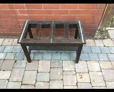Old Wooden Railway/Hotel Luggage/Suitcase Rack