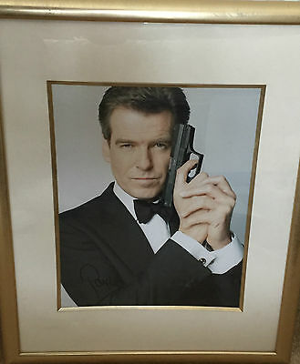 Pierce Brosnan Hand Signed Framed Autograph In Person James Bond