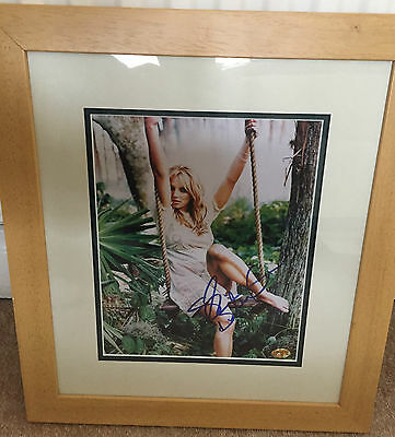 Britney Spears Hand Signed Framed Autograph Coa