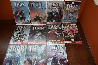 Marvel Comics Complete Thor Issues 1-11 NM/VF+ Bagged and Boarded