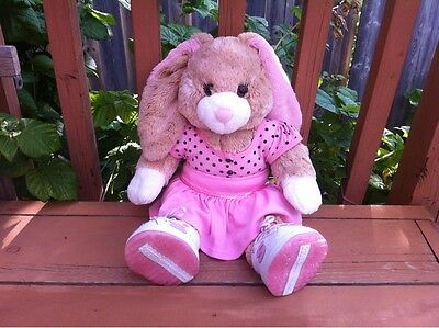 "+ 29. Build a Bear Pink Easter Bunny Rabbit Plush 19"" in Сlothes"