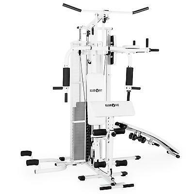Multi Gym Workout Station Home Commercial 50 Excercises Traning Machine White