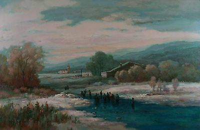 """Landscape Original Oil Painting on Stretched Canvas 24""""X36"""""""