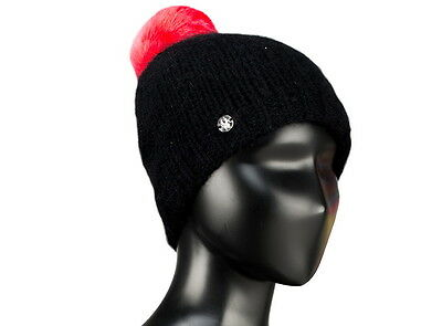 Authentic Spyder Girls Kids Icicle Hat Black Hat One Size