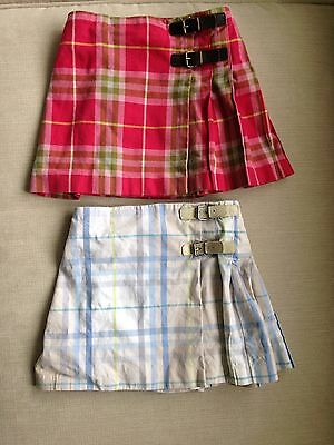 Lot of AUTHENTIC BURBERRY PLAID SKIRTS EUC SIZE 18 MONTHS
