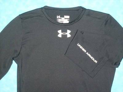 Boy's UNDER ARMOUR Size Large (YLG) Black Fitted Coldgear Top Shirt - Excellent!