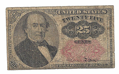 1874  US 25 Cent Fractional Currency Note