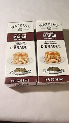 Two Watkins 2 oz maple  extracts