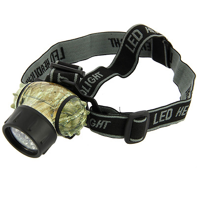New 19 Camo Led Head Lamp Touch Light For Fishing Camping Biking Ngt Tackle