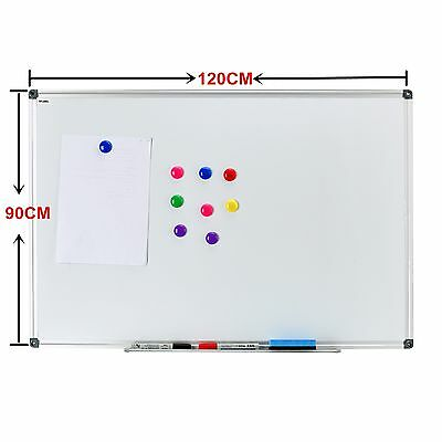 "47""x35"" Magnetic Writing Whiteboard Dry Erase Board w/ Eraser Office Single Side"