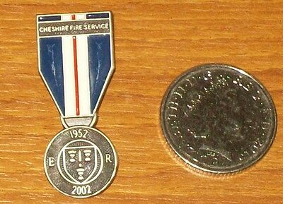 lapel pin, Golden Jubilee medal  pin issued Cheshire Fire Service, No 036, Rare