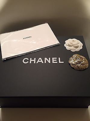 1 Chanel Magnetic Gift Box, 2 Camellia Flowers And 1 Dust Cloth