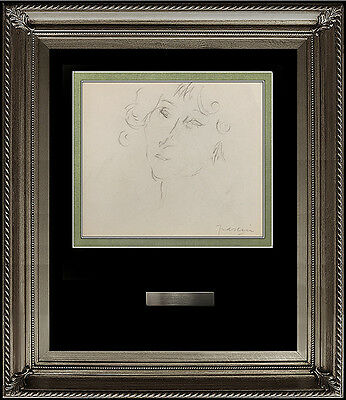JULES PASCIN Original INK DRAWING Hand Signed Artwork Female Portrait Authentic