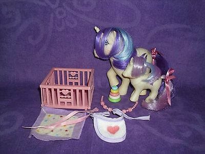 My Little Pony G1 Momma & Baby Glory Lot with Accessories