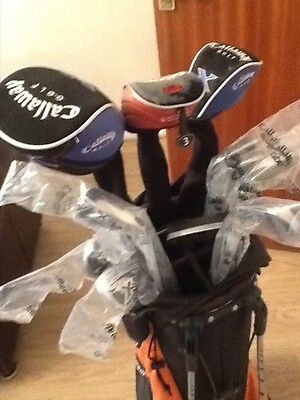 Superb full set of Callaway clubs with Ping Putter and Callaway stand bag