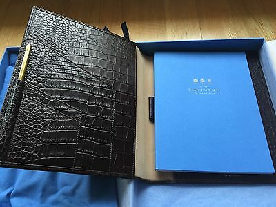 Smythson Of Bond Street Writing Folder Schreibmappe Kalbsleder Luxus NP Eur385