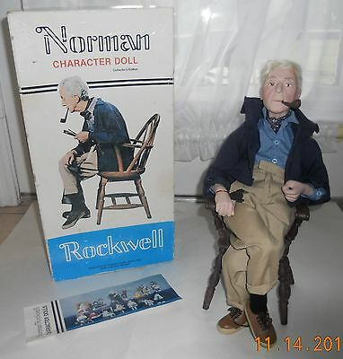 Norman Rockwell (RARE) - NORMAN DOLL- Rumbleseat Press LG Character Doll