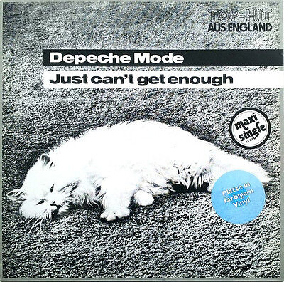 "Depeche Mode - Just Can't Get Enough 12"" Vinyl Weiss White RARE gore Int 126.801"