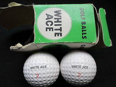 Vintage Golf Balls - White Ace Lot Of 2 - Boxed