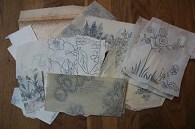 Vintage Embroidery Patterns Transfers Needlework Cross Stitch Tissues