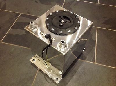 10 Litre Fuel Cell/tank With Level Sender Unit, Polished Aluminium