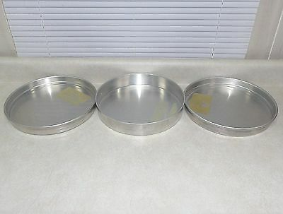 """LOT of 3 COMMERCIAL 12"""" STACKABLE DEEP-DISH PIZZA PANS"""