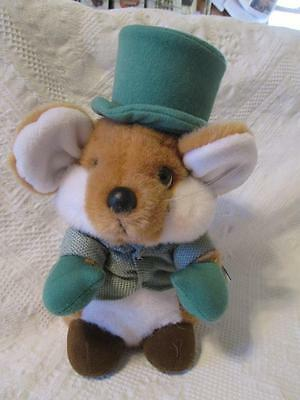 1988 Applause Chris Mouse Plush Christmas Mouse 21573