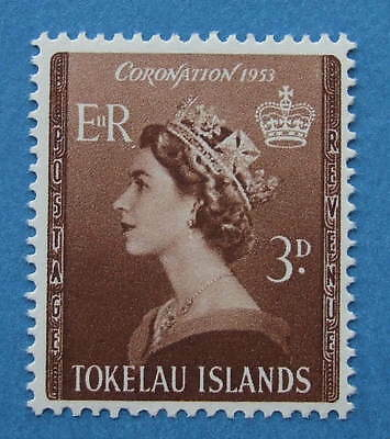 Tokelau Islands: 1953 Coronation 3d stamp SG 4   MNH