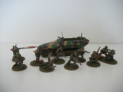 Painted 28mm WW2 Bolt Action German SS Grenadier section/Hanomag miniatures