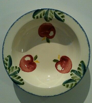 "Poole Pottery Dorset Fruits ~ 7 1/4"" Rimmed Bowl ~ Apples"