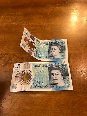 AA10/AA40 - New Five Pound Notes