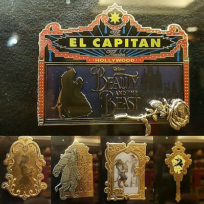 DISNEY DSF DSSH Grand Trading Event BEAUTY and the BEAST Marquee Pin Set