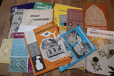 20 x Vintage Embroidery Patterns & Magazines Collection JOB LOT Hardanger Crafts