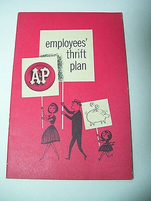 Vintage A&P A & P Grocery Store Advertising Employee Benefit Book Thrift Plan