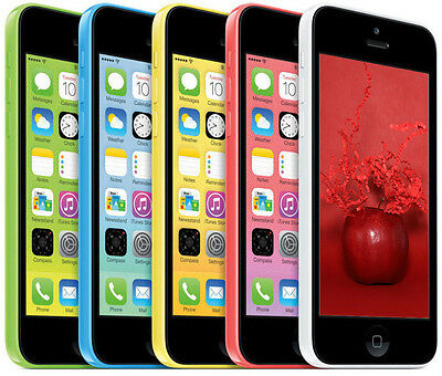 """A GRADE Apple iPhone 5C 4G LTE 4"""" Smartphone (T-Mobile ONLY) 8 16 32GB CRC"""