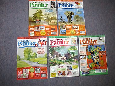 Leisure Painter Magazines 5 back copies from 2011 job lot