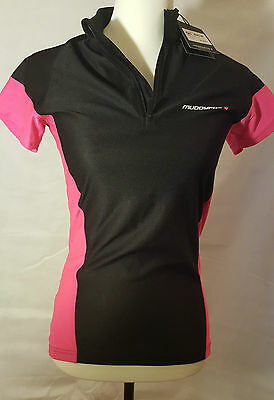 Muddy fox - ladies cycling top - New with tags - Black and pink size 8