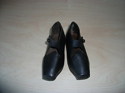 Child's Antique wood and leather clogs