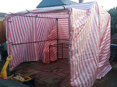 Market stall. 8ft x 8ft. With cover and clips. BA3 Somerset collection.