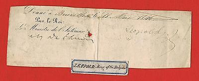 Extremely Rare Signature King Leopold I of the Belgians dated 1846
