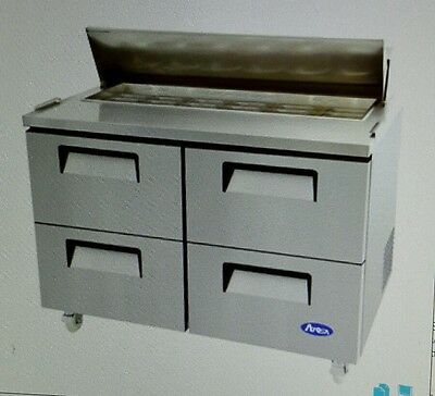 """Atosa MSF8311 48""""Refrigerated Sandwich/Salad Prep Table With Drawers"""