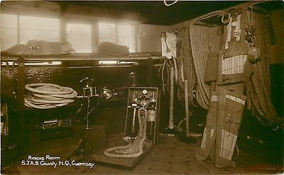 s10144 Rescue Room, St John Ambulance County HQ, Guernsey RP postcard unposted
