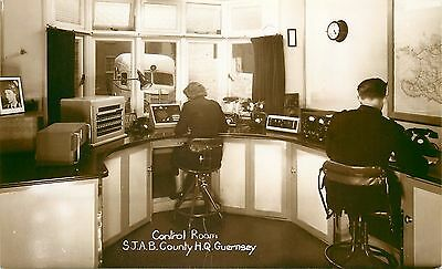 s10147 Control Room, St John Ambulance County HQ, Guernsey RP postcard unposted