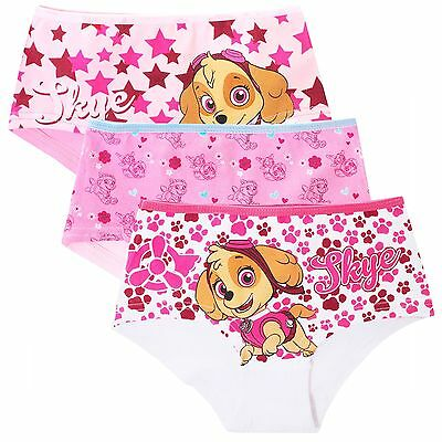 Girls PAW PATROL Cotton Shorty Briefs Shorts Knickers Character Underwear~3 Pack