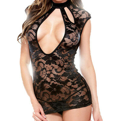 Sexy-Lingerie-Sleepwear-Lace-Women's-G-string-Dress-Underwear-Babydoll-Nightwear